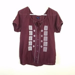 Gap | Peasant style blouson with embroidery detail